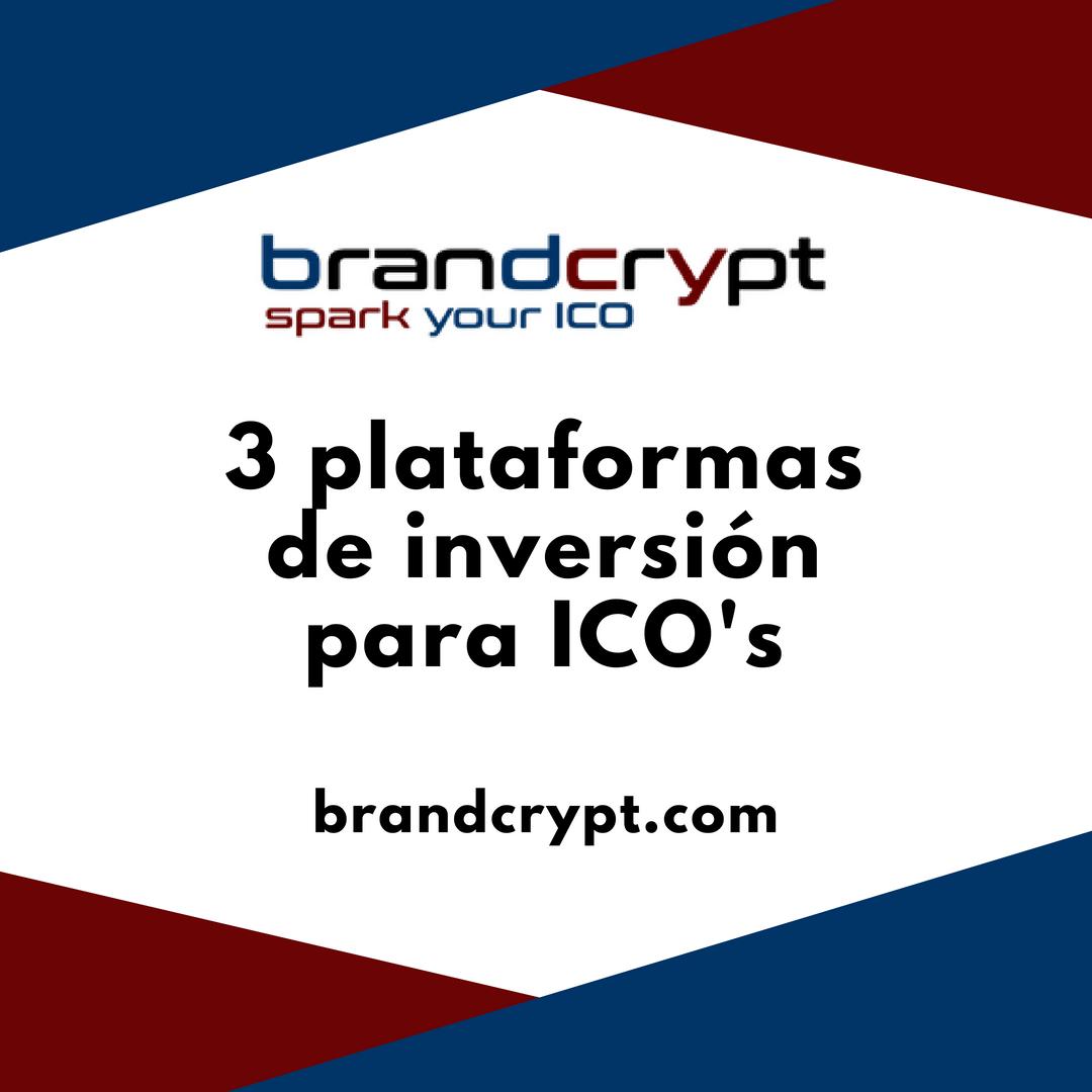 3 plataformas de inversión para ICO's