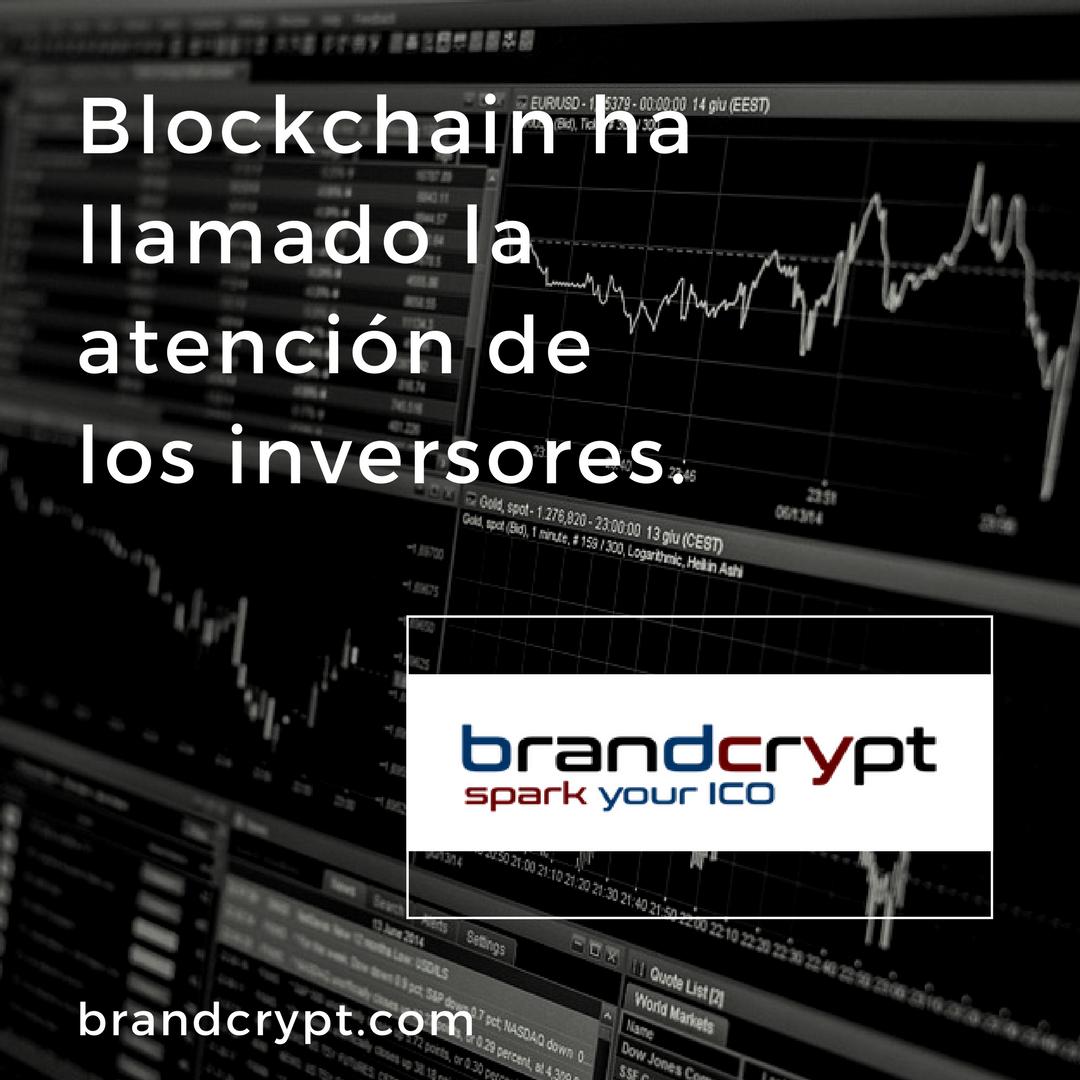 Blockchain ha llamado la atención de los inversores.
