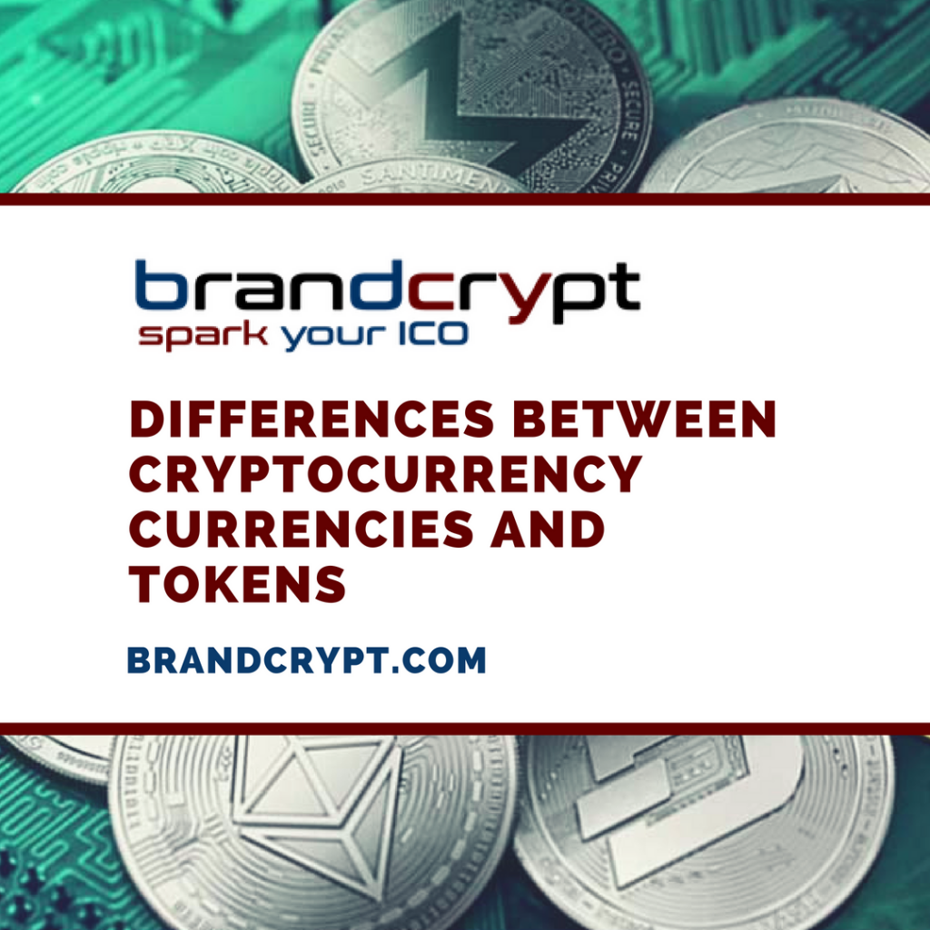 Differences between cryptocurrency currencies and tokens