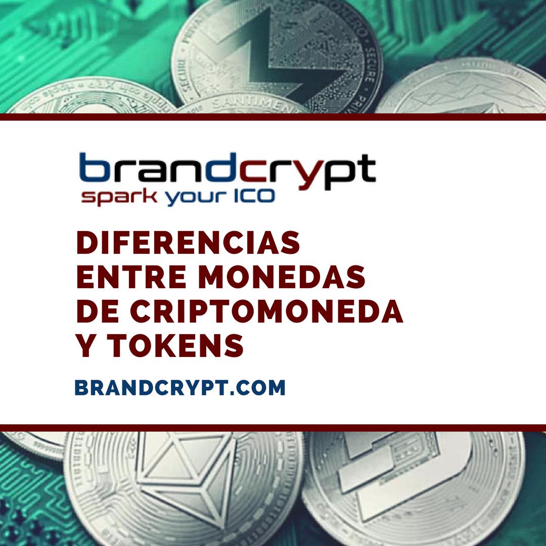 Diferencias entre monedas de criptomoneda y tokens