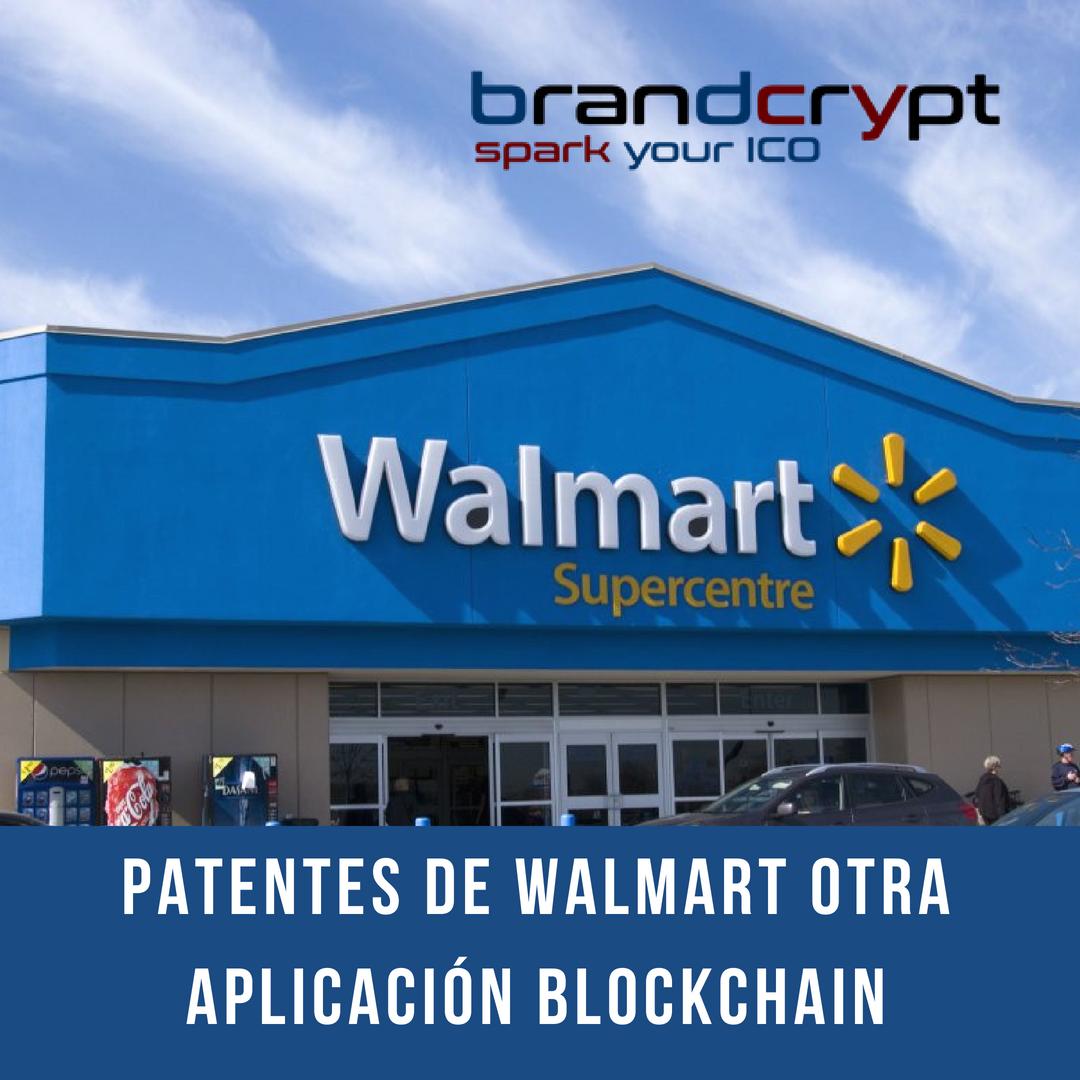 Patentes de Walmart Otra aplicación Blockchain
